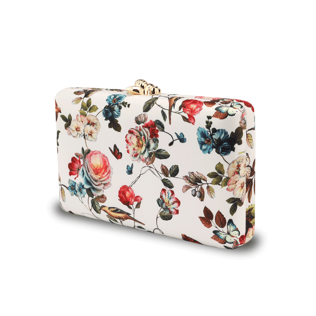 Floral Pattern Evening Bags in Black