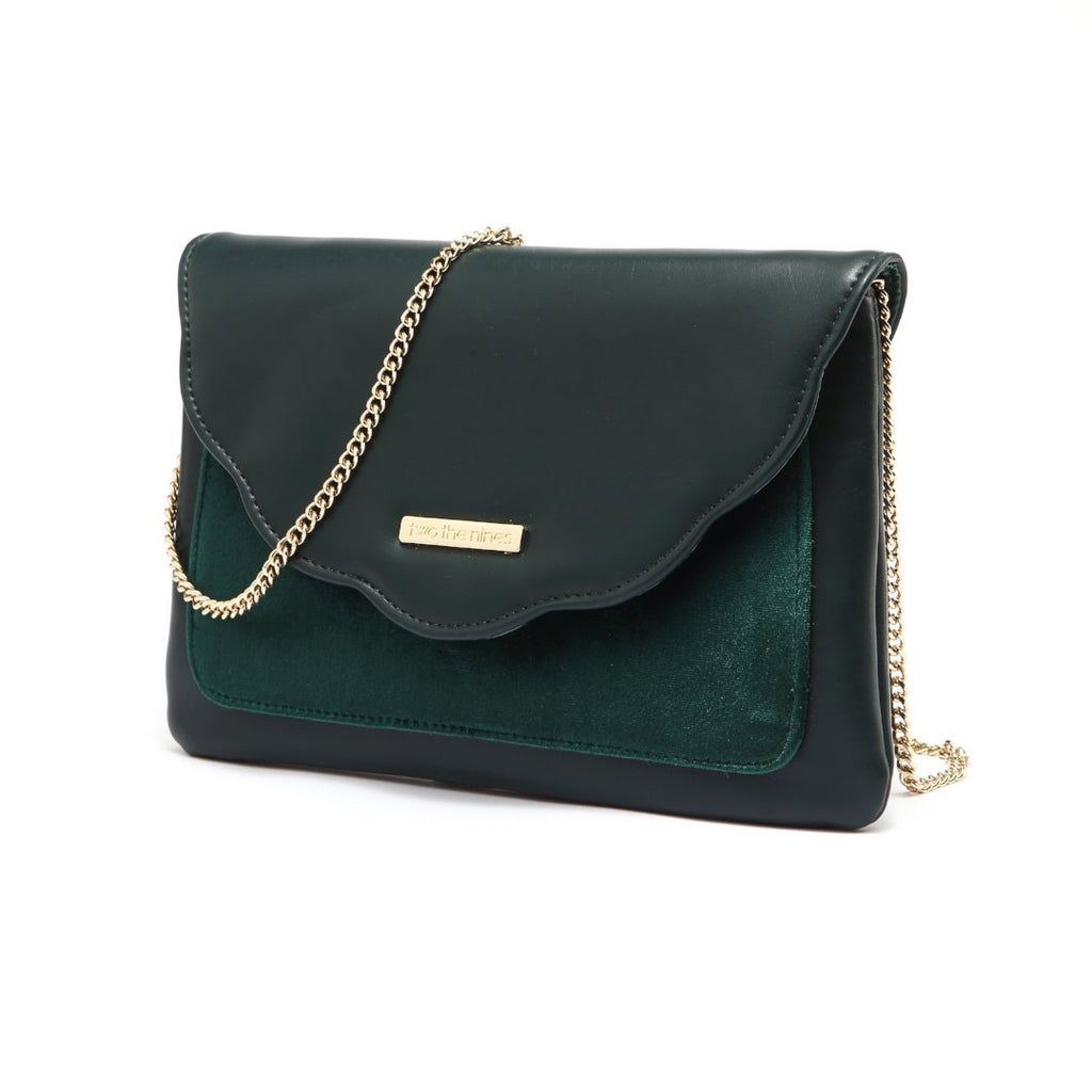 Envelope Evening Handbags in Blackish Green