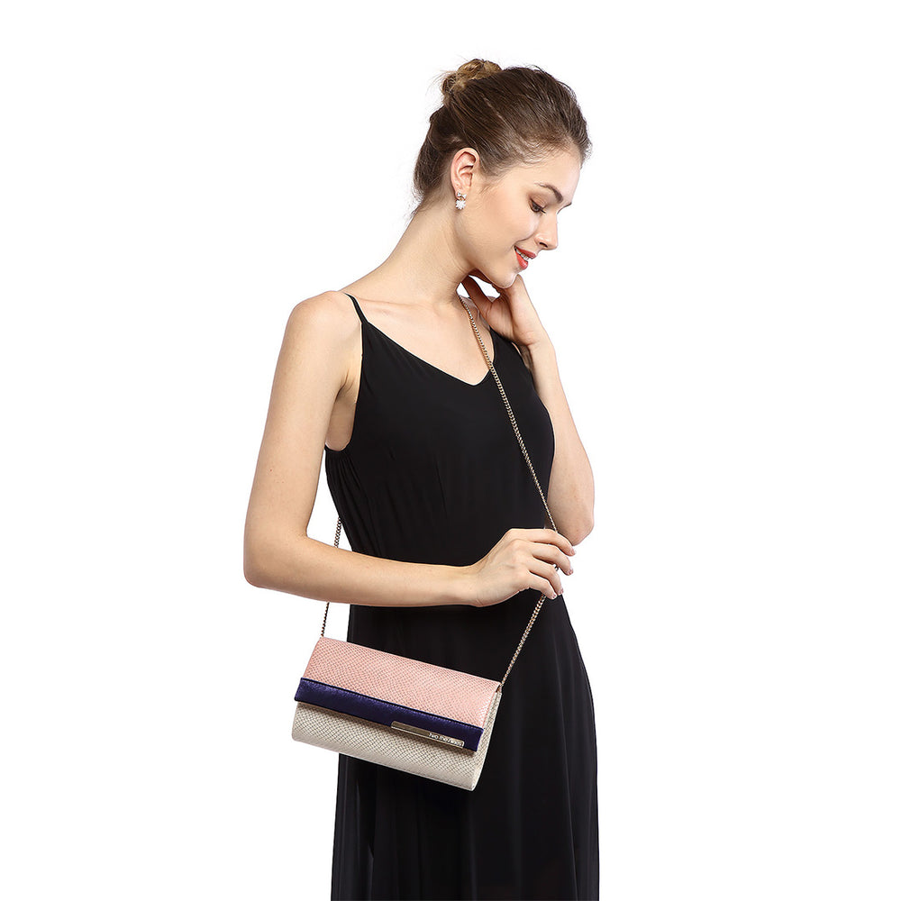 Multicolored Evening Clutch Bags in Pink