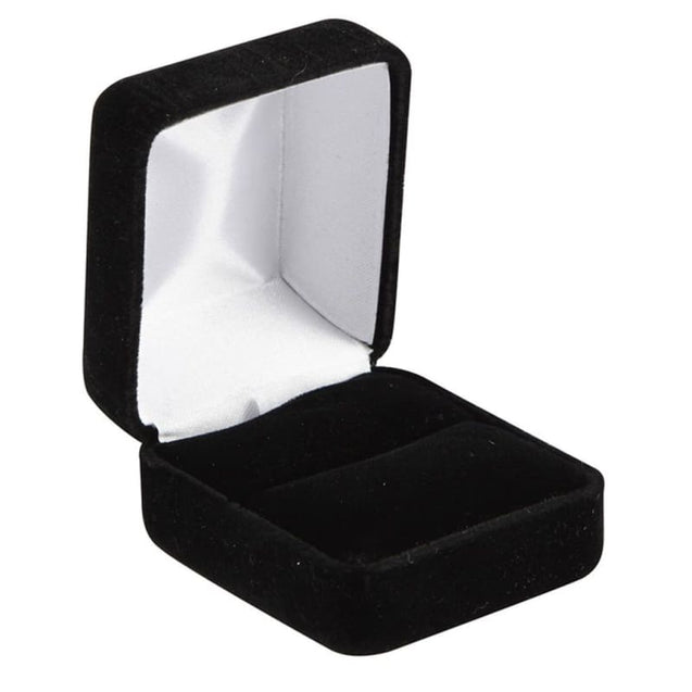 Adabella Flat Black Ceramic Ring With Polished Edges & Brushed Center 4 Mm-12 Mm - Ceramic Rings