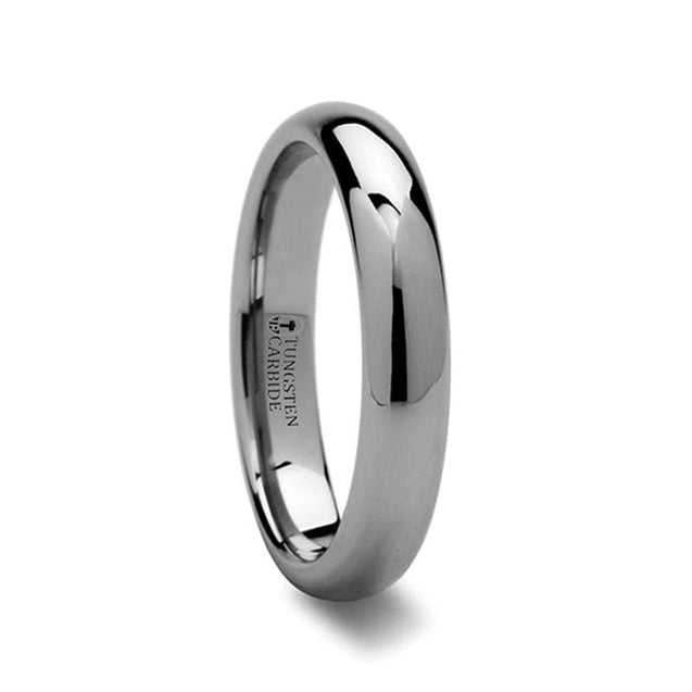 Domed Highly Polished Tungsten Carbide Ring For Men & Women 2mm - 12mm