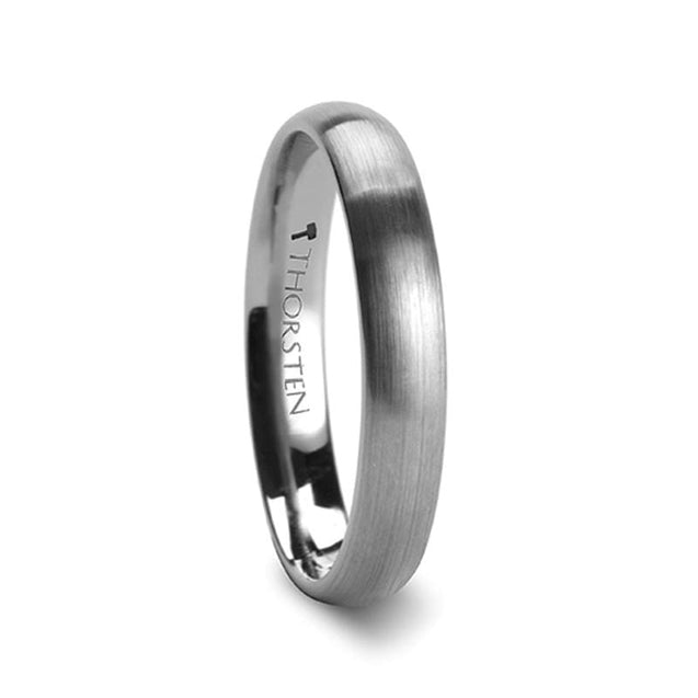 Domed Tungsten Wedding Band with Brushed Finish For Men & Women - 2mm - 12mm