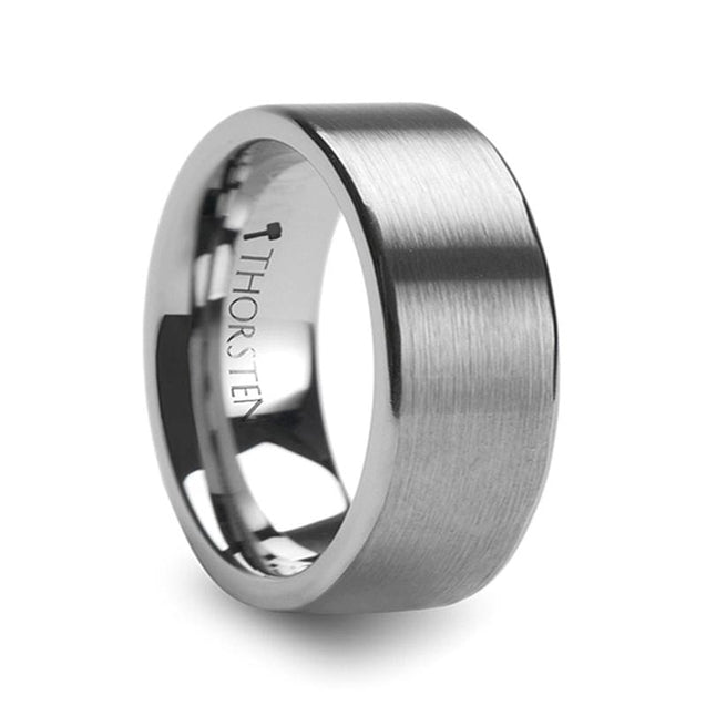 Tungsten Carbide Wedding Ring Pipe Cut Brushed Finish  4mm - 12mm