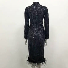 "Load image into Gallery viewer, Tight Feather dress "" Phariane """