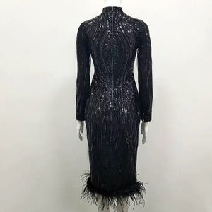 "Tight Feather dress "" Phariane """