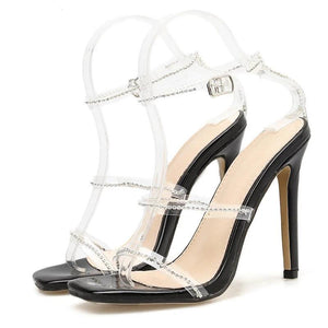 "Transparent Crystal Shoes ""Fab"""