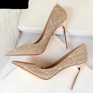 High Heels Shoes, Glitter, wedding style
