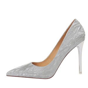 "High Heels Shoes, Glitter, wedding style ""Ciara"""