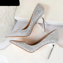 "Load image into Gallery viewer, High Heels Shoes, Glitter, wedding style ""Ciara"""