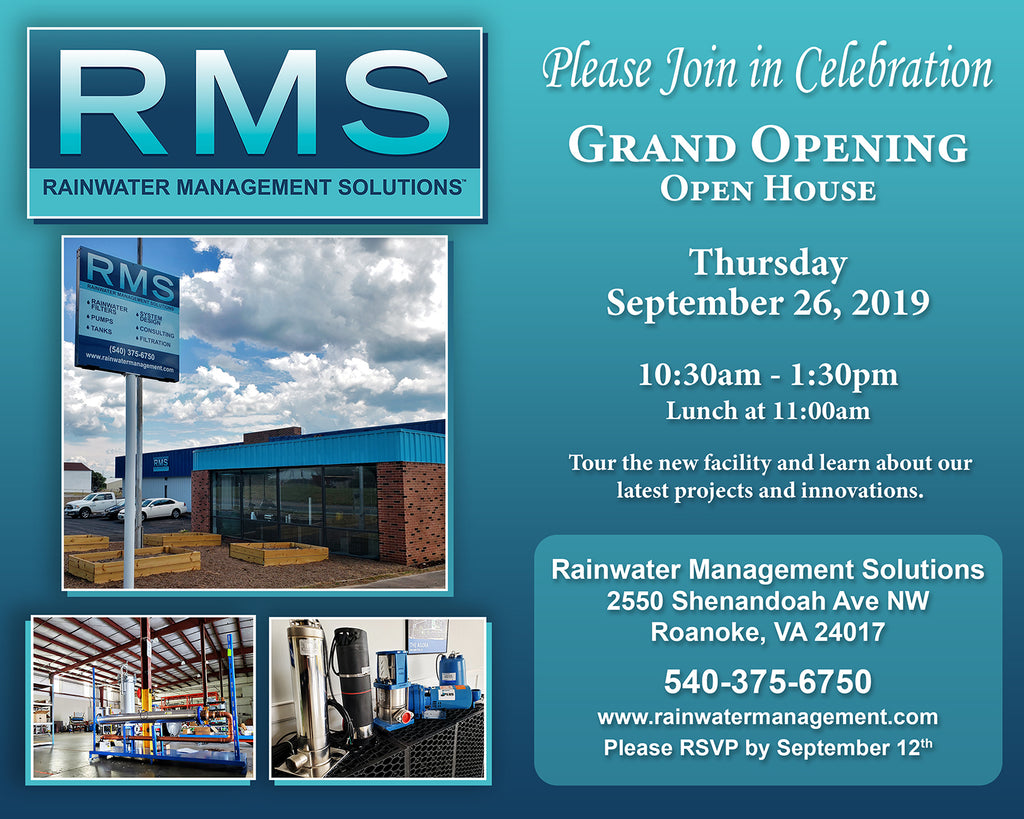 Rainwater Management Solutions Grand Opening and Open House