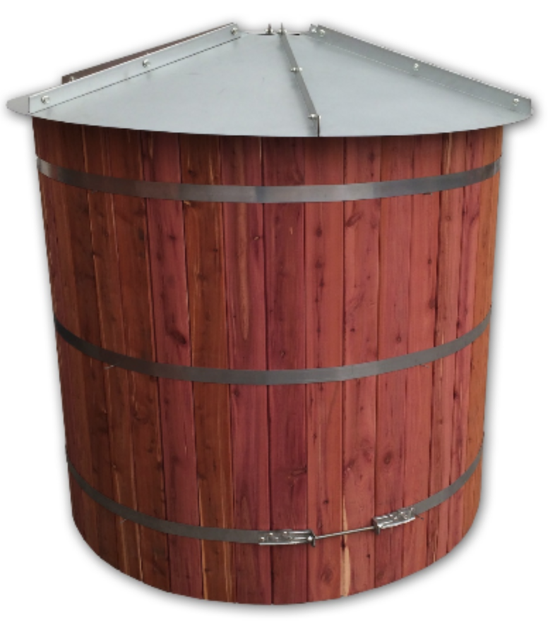 Tiny Timber 3000 Gallon Storage Tank Rainwater Management Solutions