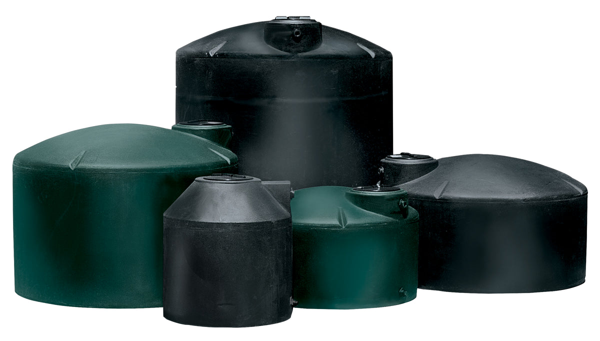 Norwesco Black 1,100 Gallon Above Ground Poly Tank