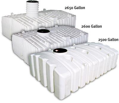 "Norwesco White 5,025 Gallon Below Ground Poly Tank 211"" L x 102"" W x 996"" H includes attached riser with 24-3/4"" H x 25"" inside diameter"