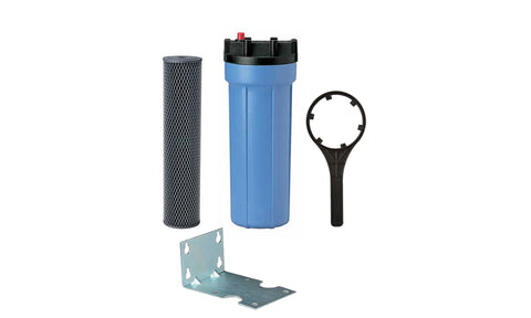 Big Blue Carbon Filter Housing Package 10""