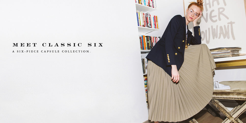 Classic Six Capsule Wardrobe Clothing Collection- A Six piece capsule collection