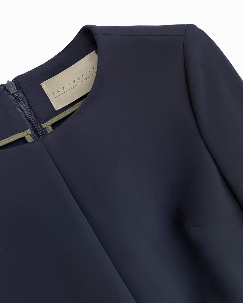 Classic Six Twiggy Dress Navy