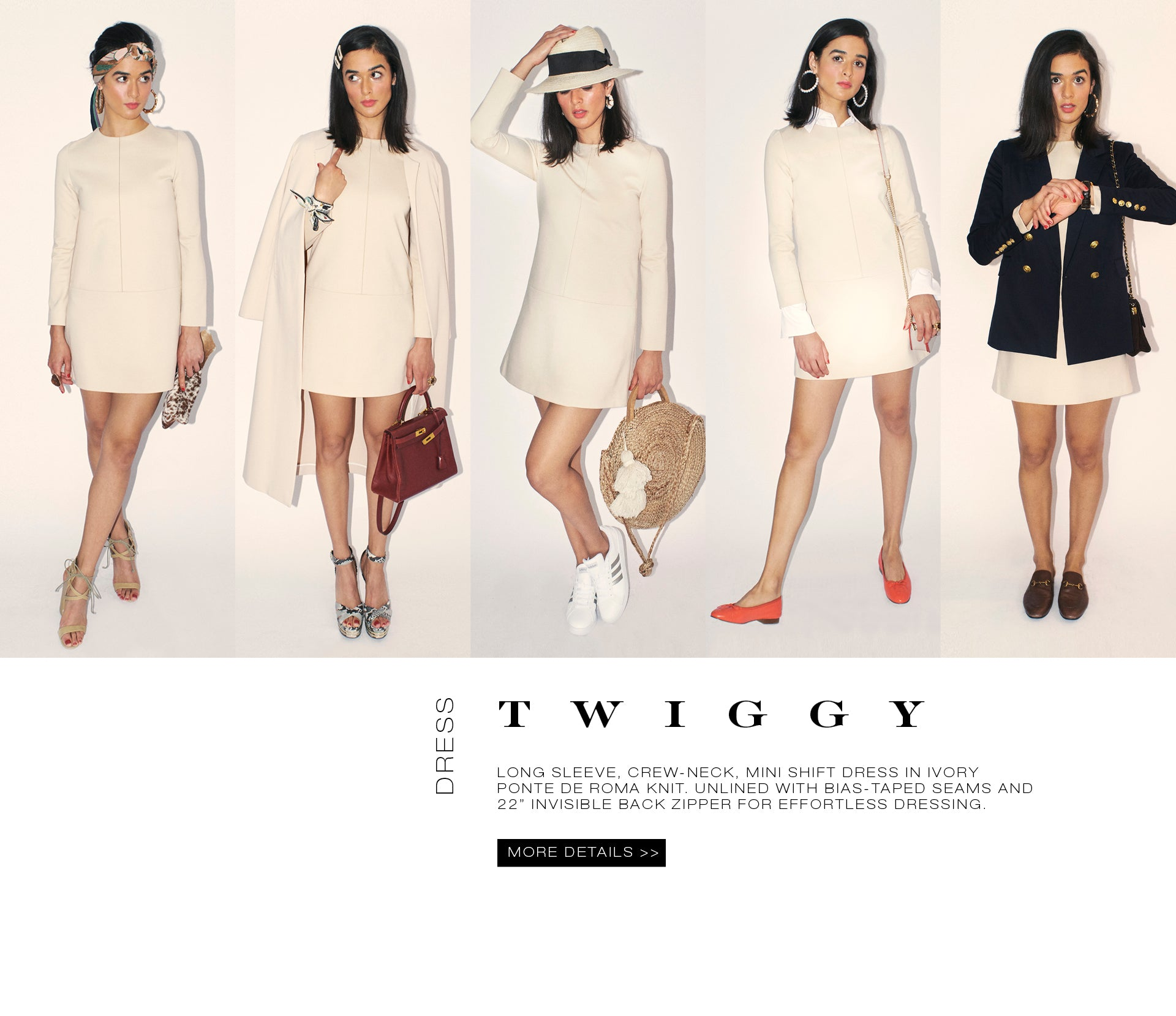 Classic Six Twiggy Shift Dress