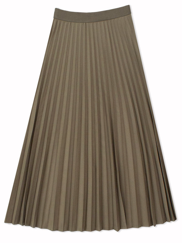 Marilyn // Accordion- Pleated Midi Skirt