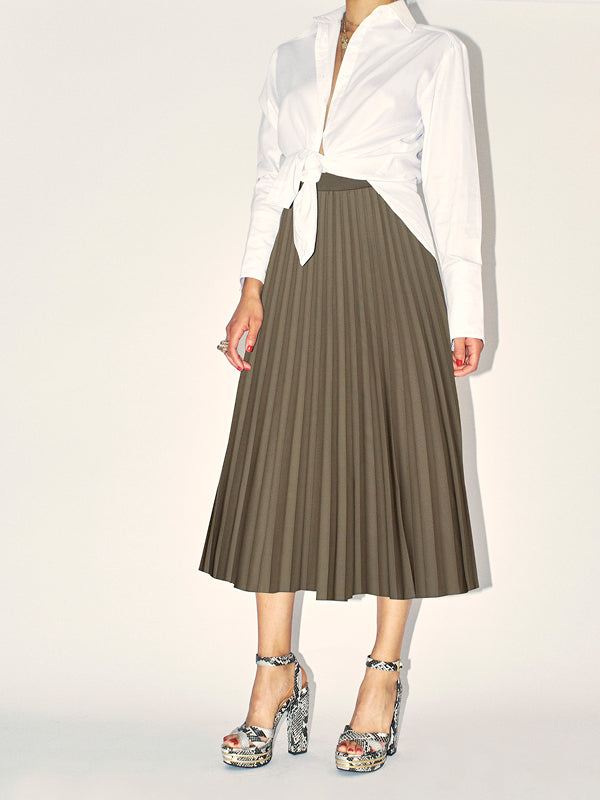Marilyn Accordion-Pleated Midi Skirt