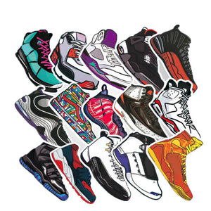 50 Stickers Waterproof AJ Basketball Sneakers Stickers - Stickers