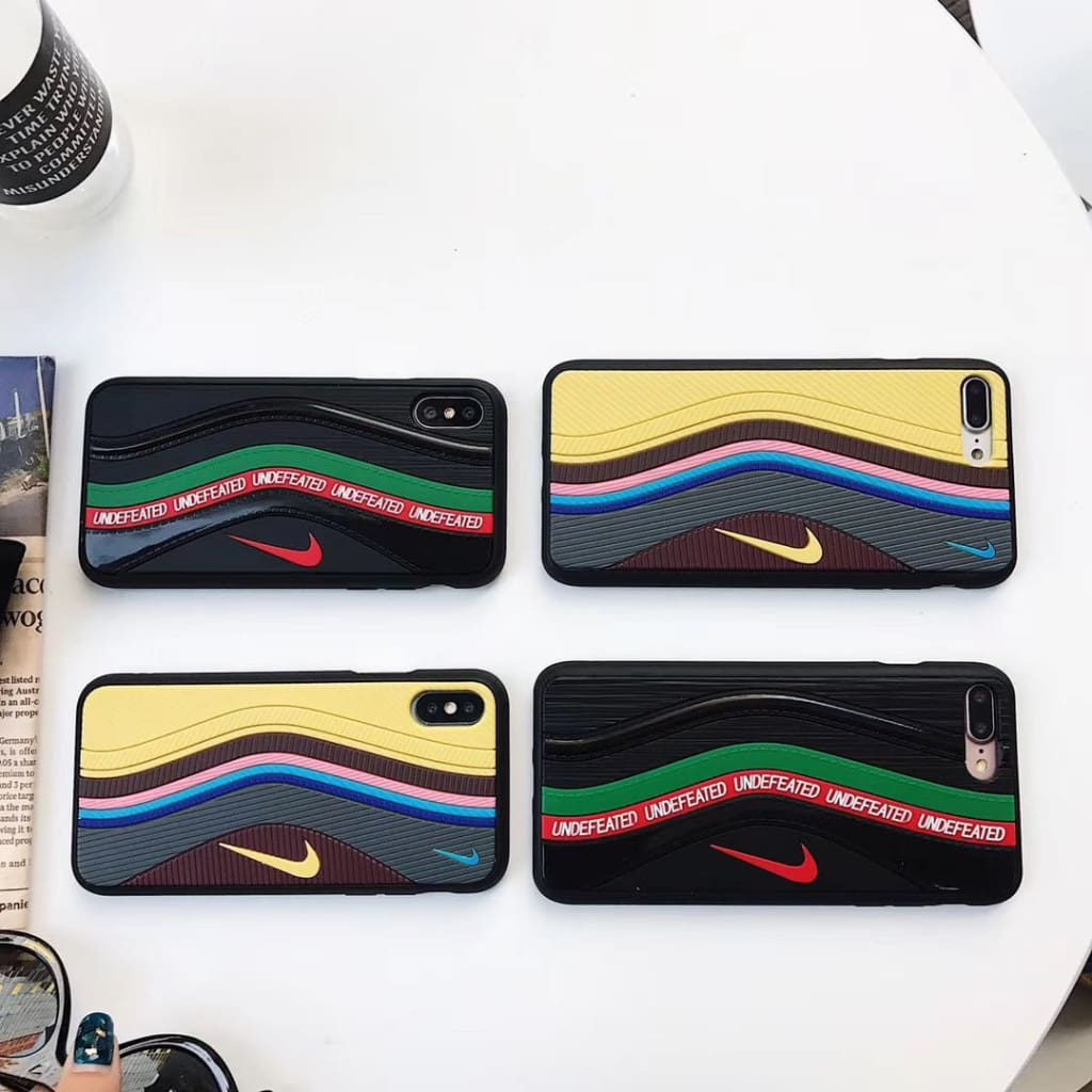 Sean W Undefeated Air Max 97 Shoe IPhone Case w/ Shock Absorption Protection - Fitted Cases