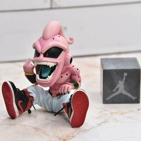 dragon ball z kid buu figure with sneakers display set