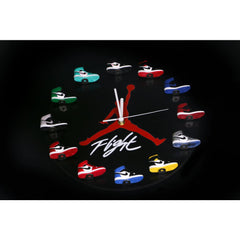 Air Jordan 3D Sneaker Clock with All AJ1 Retros Mini Sneakers