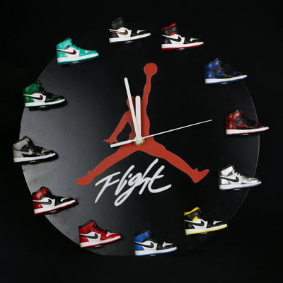 AJ 3D Sneaker Clock with All AJ1 Retros Mini Sneakers - Action & Toy Figures