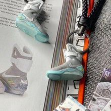 "Load image into Gallery viewer, Handcrafted Air Mags ""Back to the Future"" 3D Sneaker Keychain"