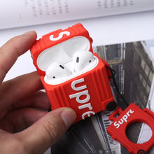 Load image into Gallery viewer, Supre X Rimo Topas Concept Design Airpods Case with Ring - red