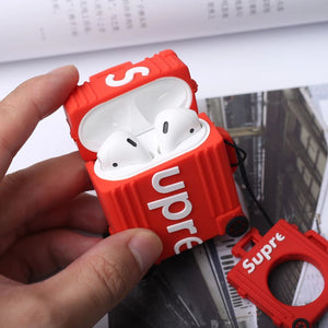 Supre X Rimo Topas Concept Design Airpods Case with Ring - red