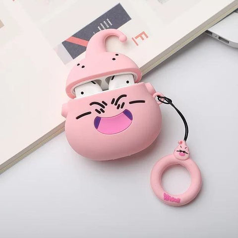 Majin Buu Inspired SIlicon Airpods Case With Ring