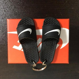 3D Miniature NK Slippers/Sandal Keychain - Swoosh Only - Key Chains