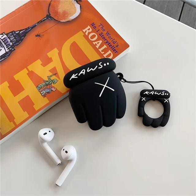 KWS Airpods Cases - Black Paw - Earphone Accessories