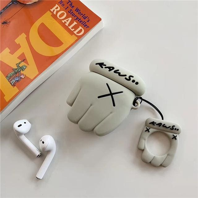 KWS Airpods Cases - Grey Paw - Earphone Accessories