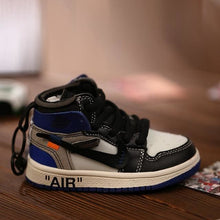 Load image into Gallery viewer, AJ1 OW Sneaker 3D Bag-Charm / Display Kicks can be attached to Backpacks and Suitcases - Jordan 1 Retro High Off-White Grey - Action & Toy