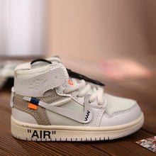 Load image into Gallery viewer, AJ1 OW Sneaker 3D Bag-Charm / Display Kicks can be attached to Backpacks and Suitcases - Jordan 1 Retro High Off-White White - Action & Toy