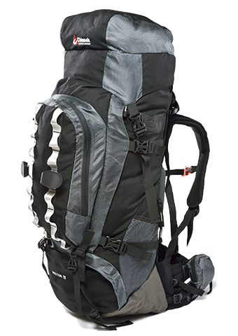 Large Hiking Backpack |Camping-Backpack Chinook Vector 75L Black