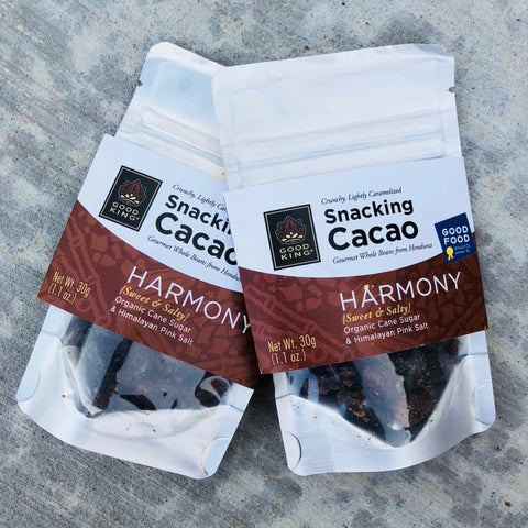 Good King Snacking Cacao: HARMONY (Organic Cane Sugar & Himalayan Pink Salt)