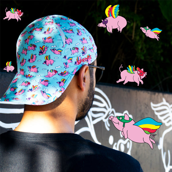Flying Pigs Running Hat (Unisex)