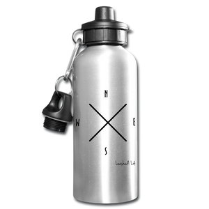 Compass Water Bottle - silver