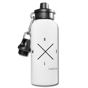 Compass Water Bottle - white