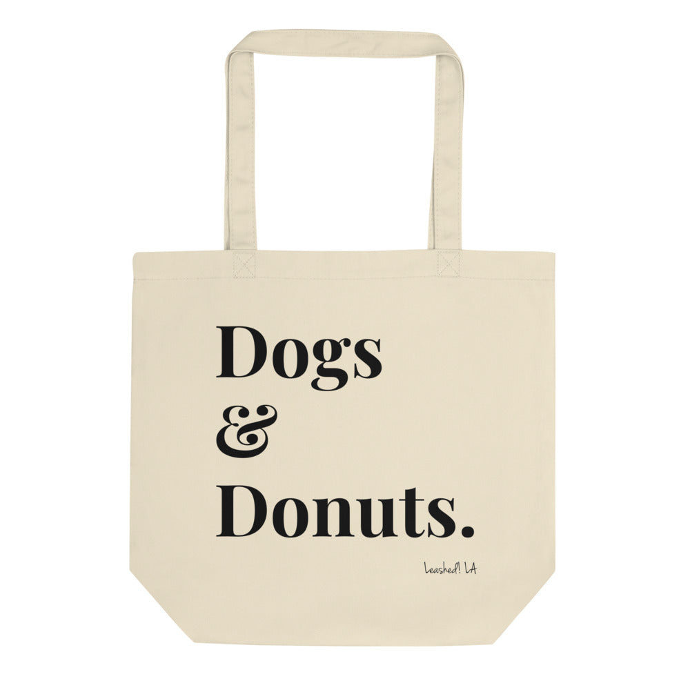 Dogs and Donuts tote bag - organic tote bag