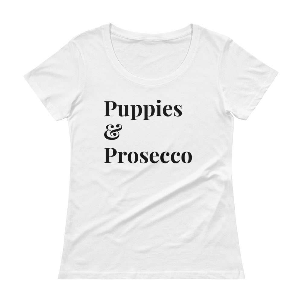 puppies and prosecco tee - prosecco