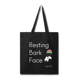 Resting Bark Face Tote Bag - black