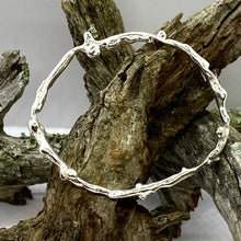 Load image into Gallery viewer, Liquid Silver Bangle - 01