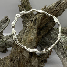 Load image into Gallery viewer, Liquid Silver Bangle - 03