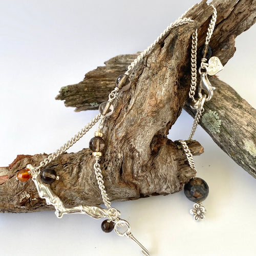Contemporary Necklace - Scattered Forest
