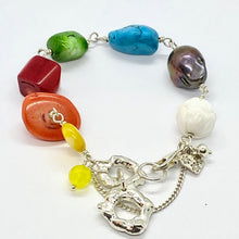 Load image into Gallery viewer, Liquid Silver Bracelet - Colour Me Yellow