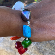 Load image into Gallery viewer, Liquid Silver Bracelet - Colour Me Blue